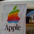 Apple-Fahne auf der HAR2009