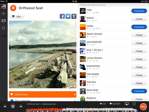 Soundcloud iPad App