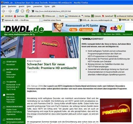 DWDL - Screenshot