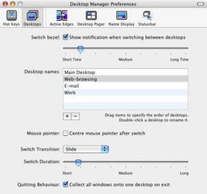 Desktop Manager - Screenshot