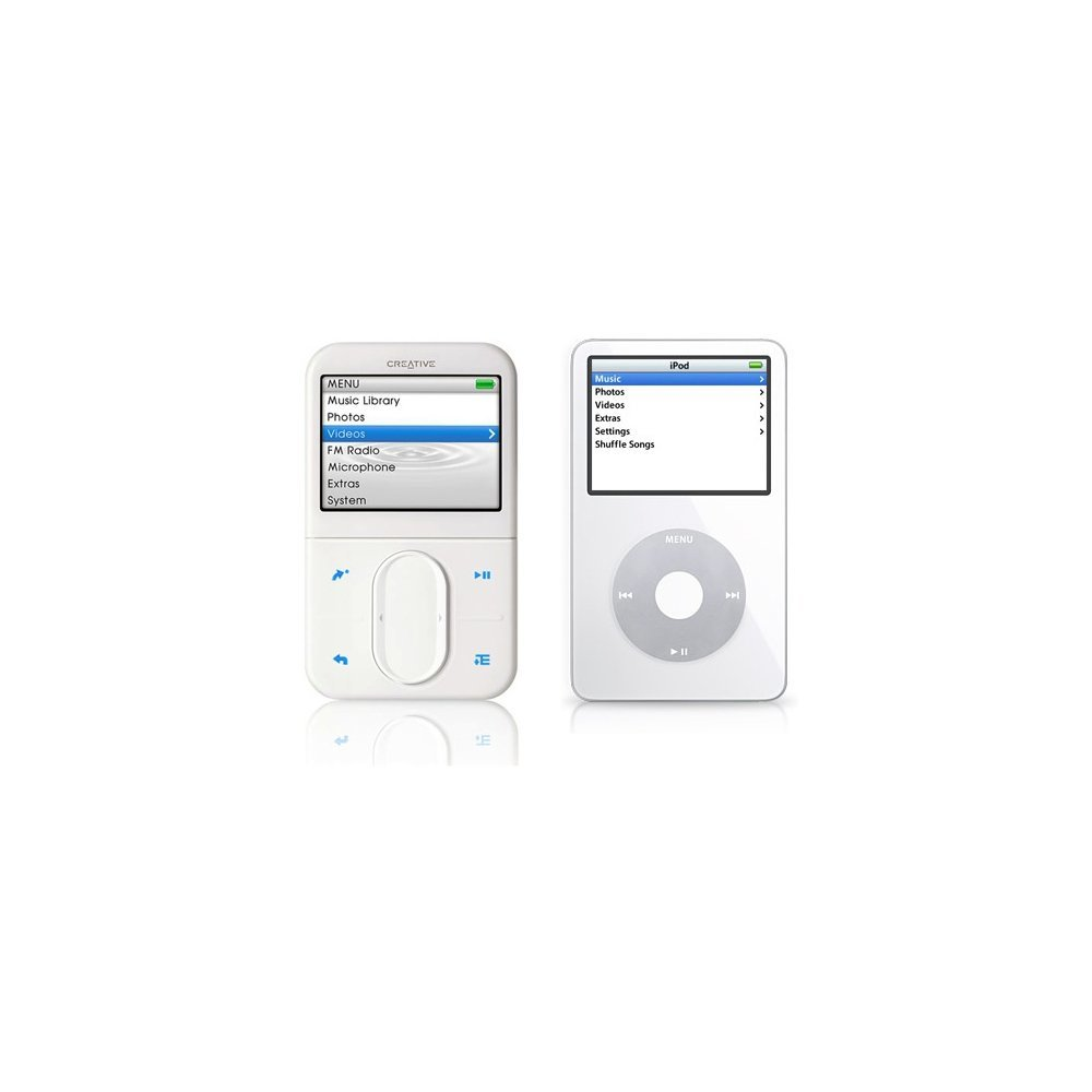 iPod (rechts) vs. Zen Player (links)