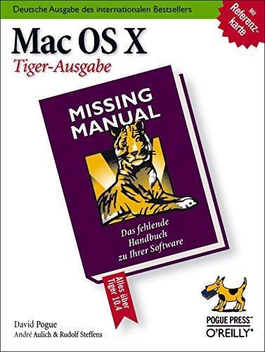 Mac OS X: Missing Manual, Tiger-Ausgabe - Cover