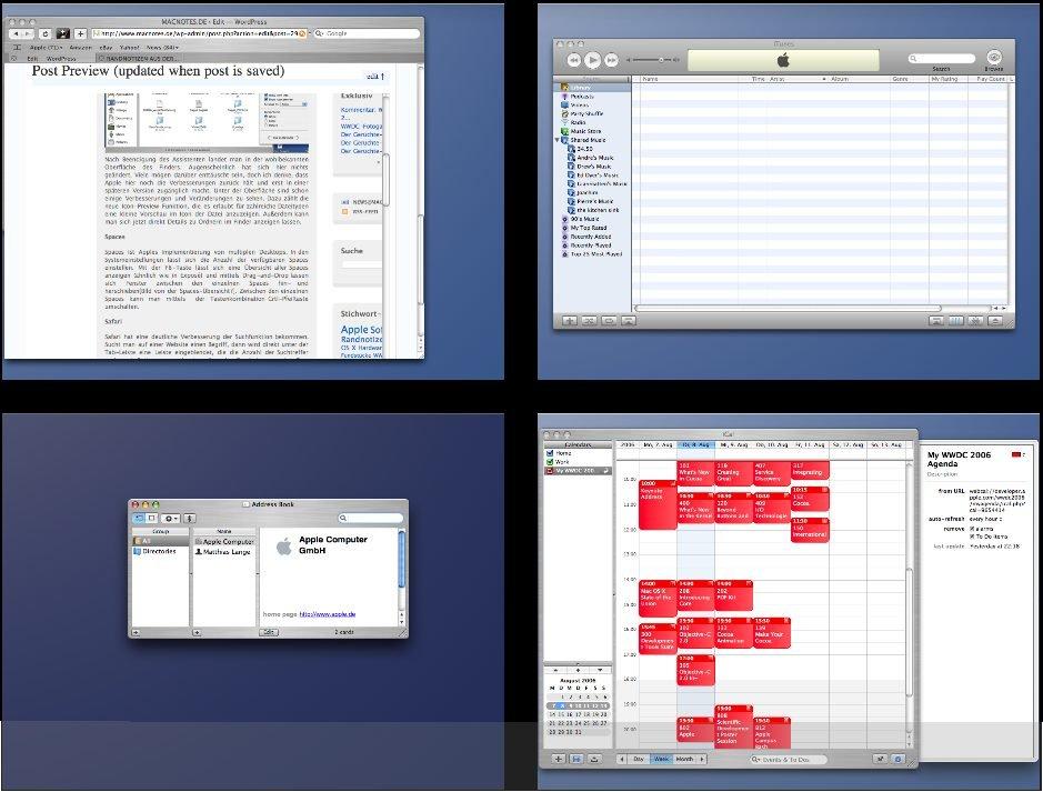 OS X 10.5 - Spaces