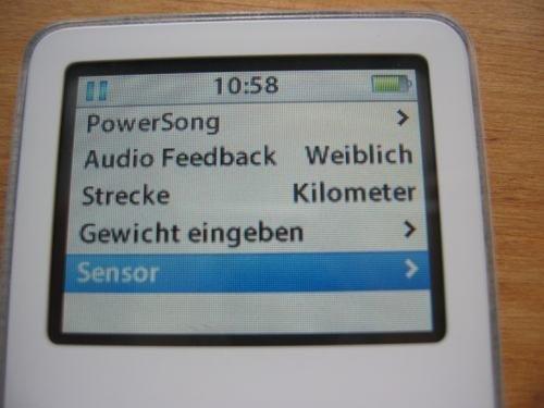 Nike+iPod Sport Kit - Einstellungen am iPod