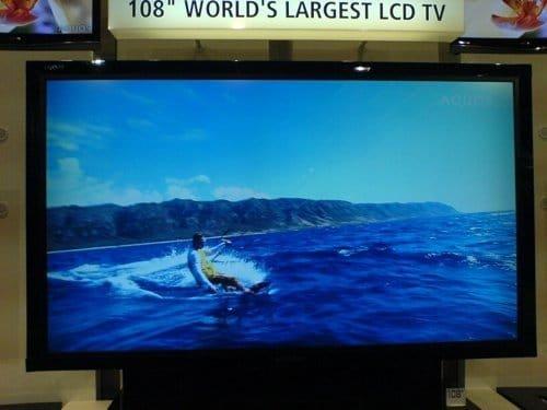 Sharp-Fernseher mit 108 Zoll Bild-Diagonale