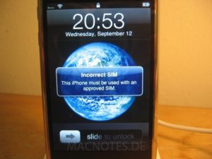 iPhone - inkorrekte SIM-Karte