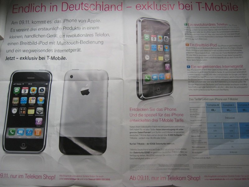 iPhone - Flyer der Telekom