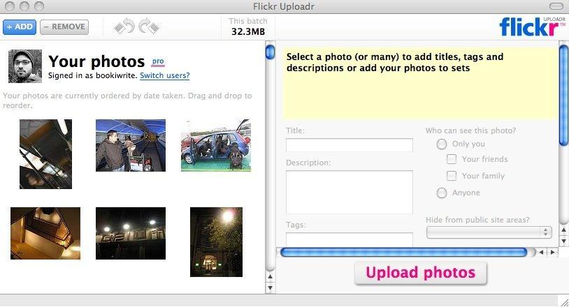 Flickr Uploadr - Screenshot