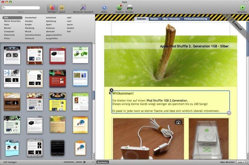 iSale 5 - Screenshot