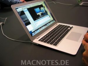 MacBook Air auf der MacWorld 2008