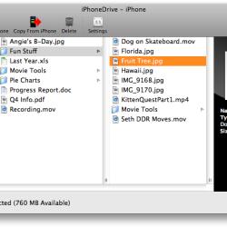 iPhoneDrive 1.4: Zugriff auf Dateien, Musik, SMS