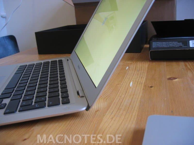 MacBook Air ausgepackt