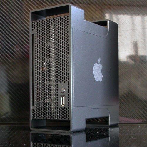Mac mini im Mac Pro Gehäuse