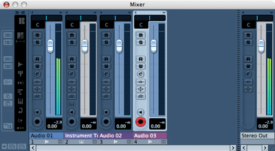 Mixer-Fenster in Cubase Essential 4