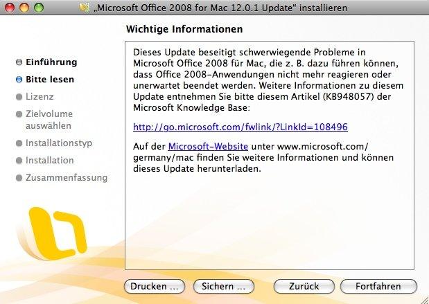 Office 2008 Update 12.0.1