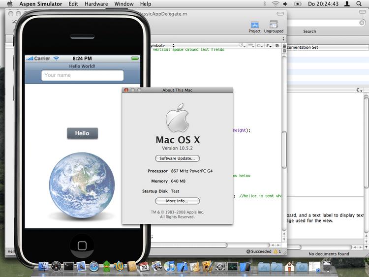 iPhone Simulator auf einem PowerPC-Mac
