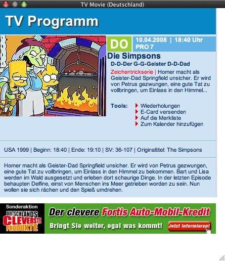 The Tube mit TV Movie EPG