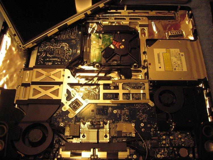 Festplattenrahmen im Alu-iMac