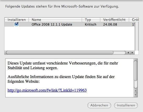 Office 2008 12.1.1 Update