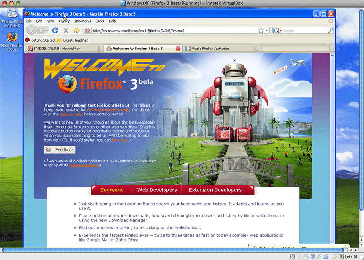 Windows XP in VirtualBox