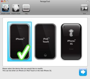 PwnageTool - iPhone-Auswahl