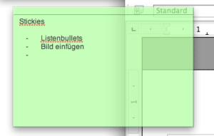 Notizzettel transparent