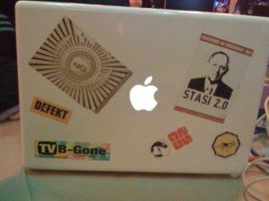 Ein MacBook auf dem 25C3