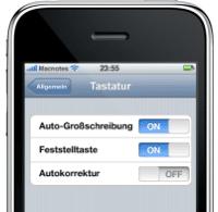 Autokorrektur am iPhone