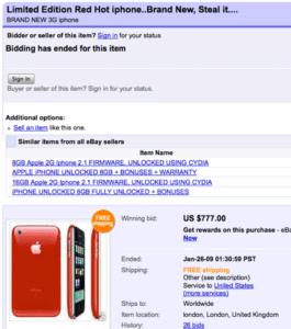 Fake oder echt? Rotes iPhone auf eBay