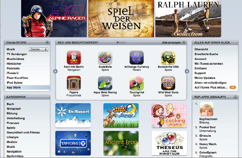App Store wird ein Jahr alt