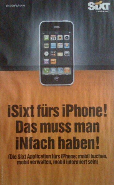 SIXT - Werbeanzeige in der Süddeutschen Zeitung