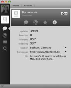 Tweetie für Mac