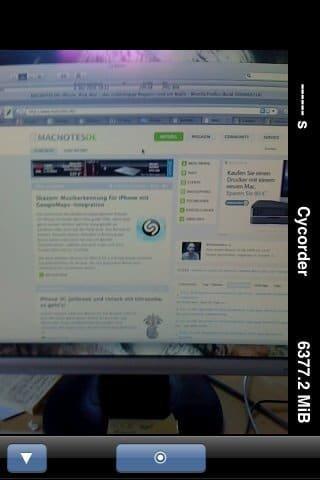 Cycorder - Screenshot
