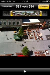 Videoschnitt am iPhone 3GS