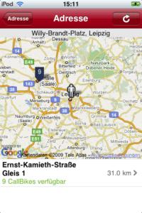 Viel zu wenige Fahrräder in Call a Bike App