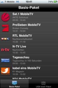 MobileTV - Senderliste