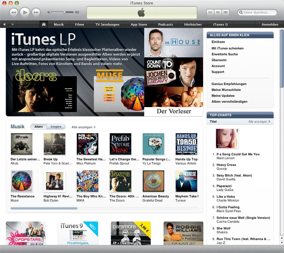 iTunes Store in iTunes 9