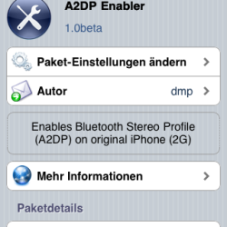 A2DP Enabler: Bluetooth-Streaming mit iPhone 2G