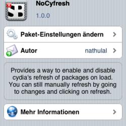 Cydia Refresh unterdrücken mit NoCyfresh