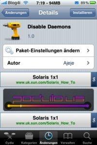 Disable Daemons