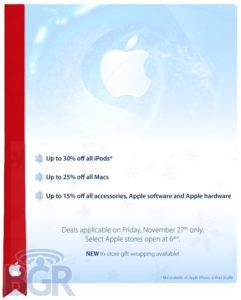 Black Friday - Werbung Apples für das Jahr 2009