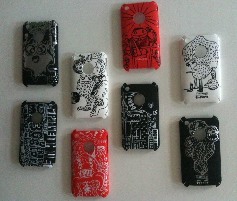 iPhone-Cases handbemalt für die CeBIT 2010
