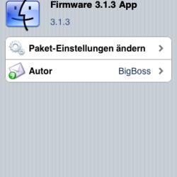 Firmware 3.1.3 App gaukelt iPhone OS 3.1.3 vor