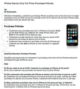 iPhones bei AT&T auch ohne Vertrag?