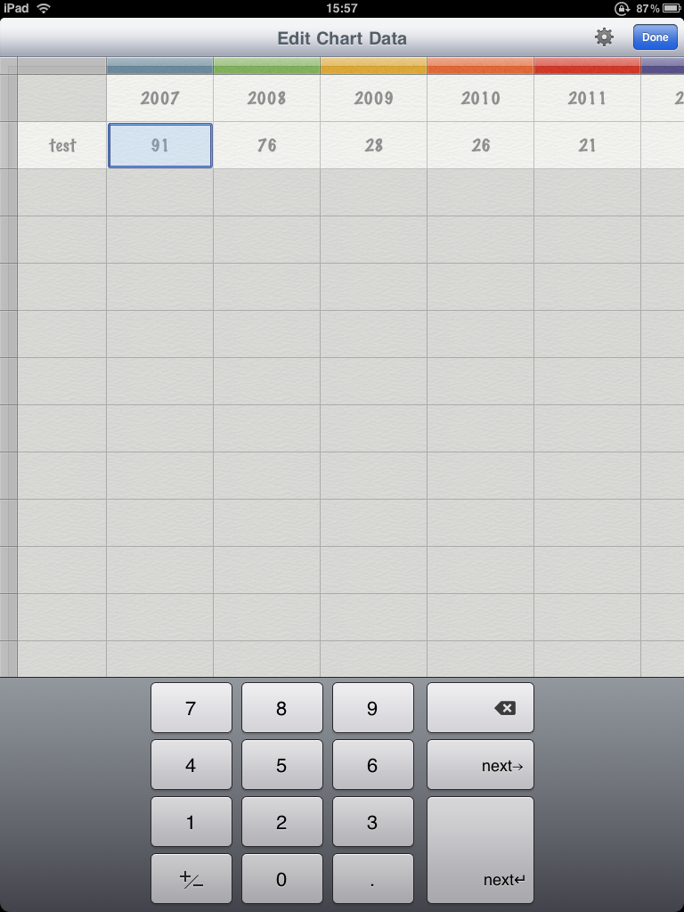 Pages für iPad - Tabelle editieren