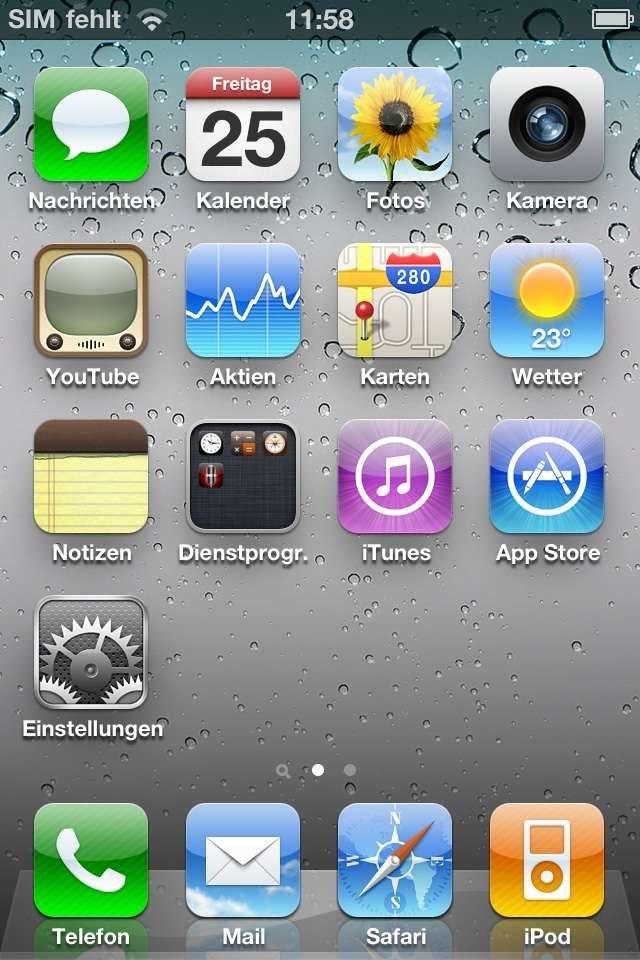 iPhone 4 - selbst geschnittene Micro-SIM wurde zunächst nicht erkannt