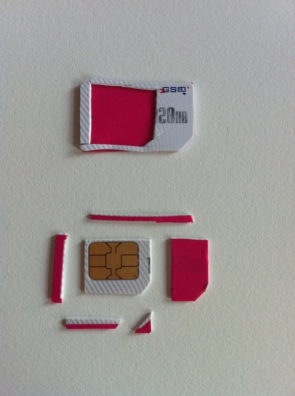 SlimYourSim - SIM-Karte zerlegt
