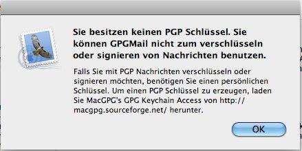 GPGMail - PGP Schlüssel fehlen