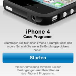 Kostenlosen Bumper für iPhone 4 via App bestellen