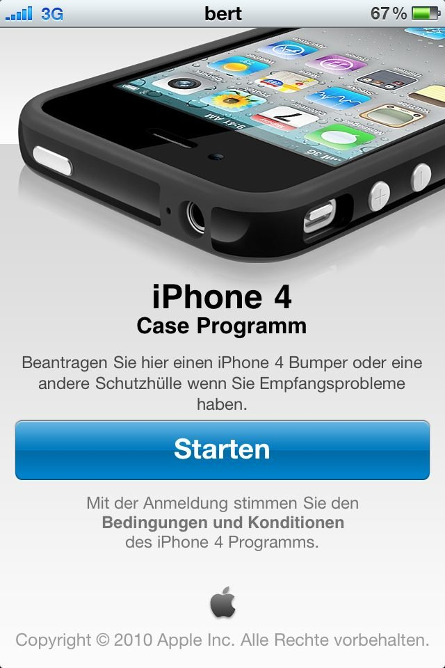 iPhone 4 Case Programm App